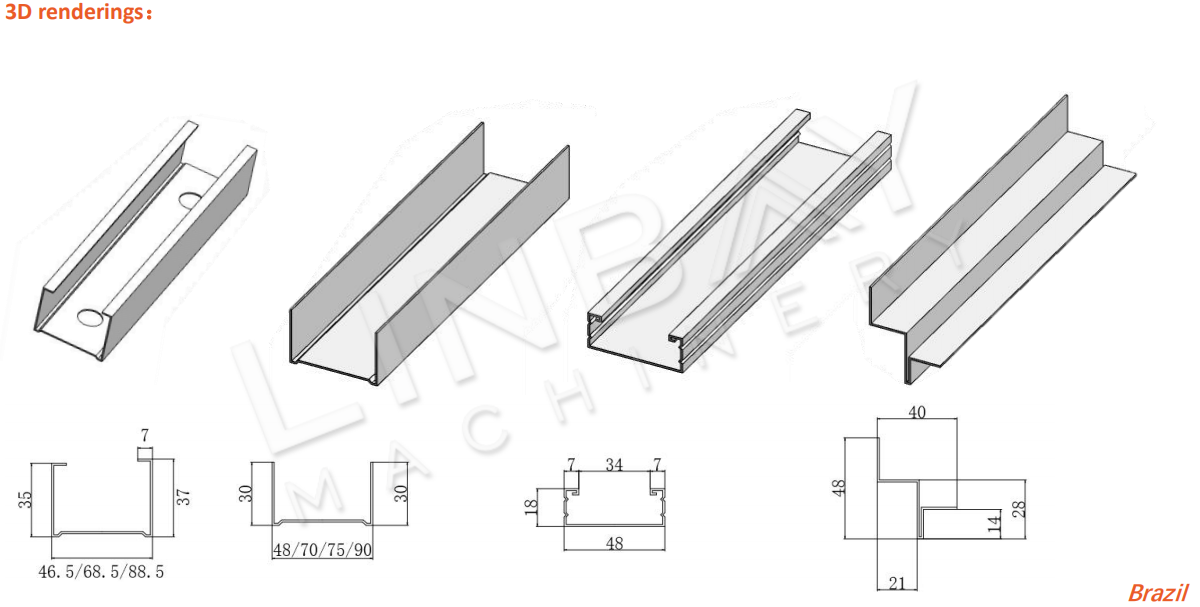 Aplikasi Drywall roll forming machine (2)