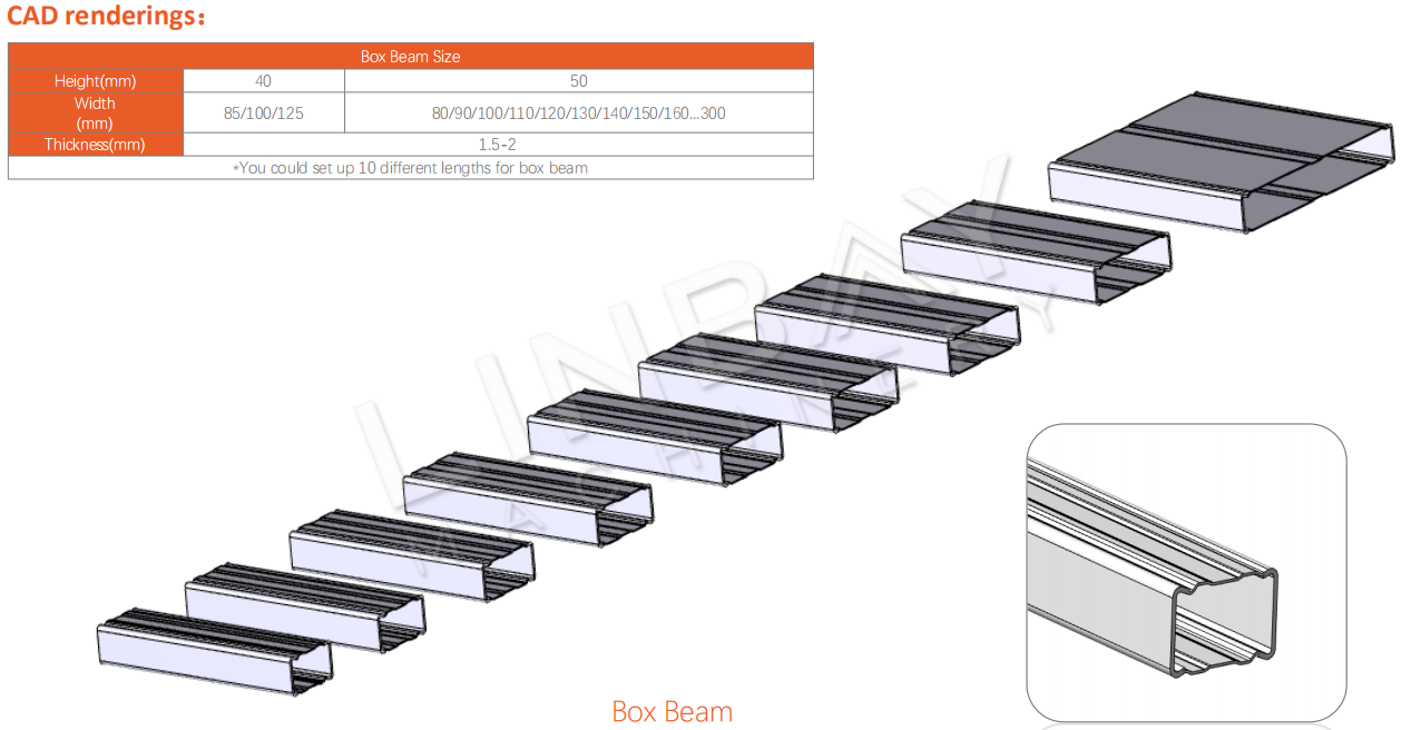 Box Beam Roll Forming Machine CAD