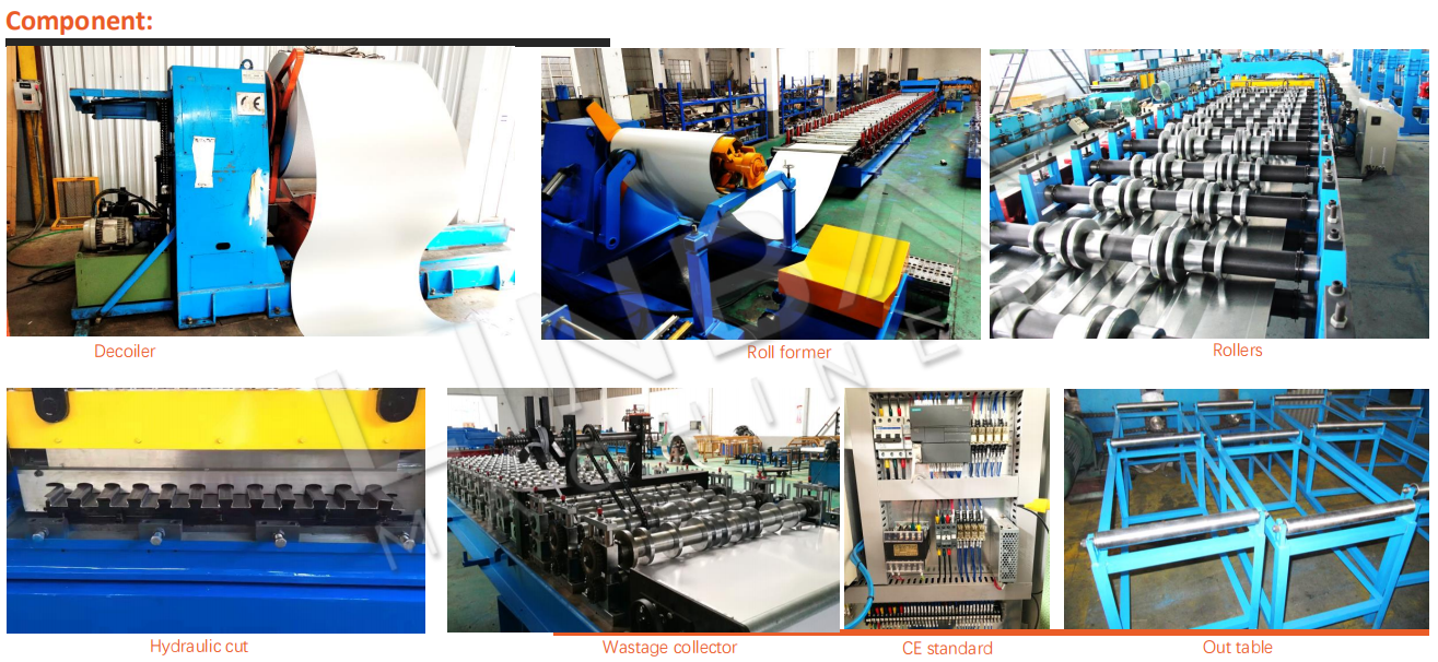 Corrugated Roof Panel Roll Forming Machine Component