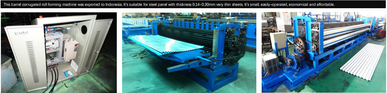 Corrugated Roof Panel Roll Forming Machine Real case