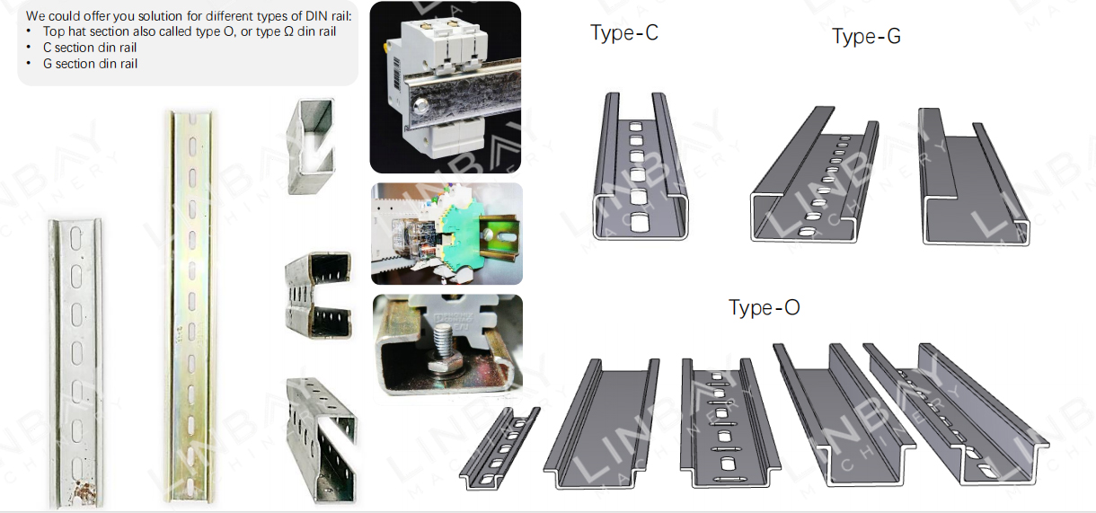 Din rail roll forming machine (2)