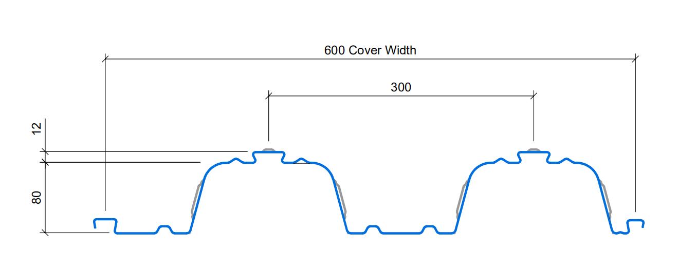 Floor deck TR80+ profile