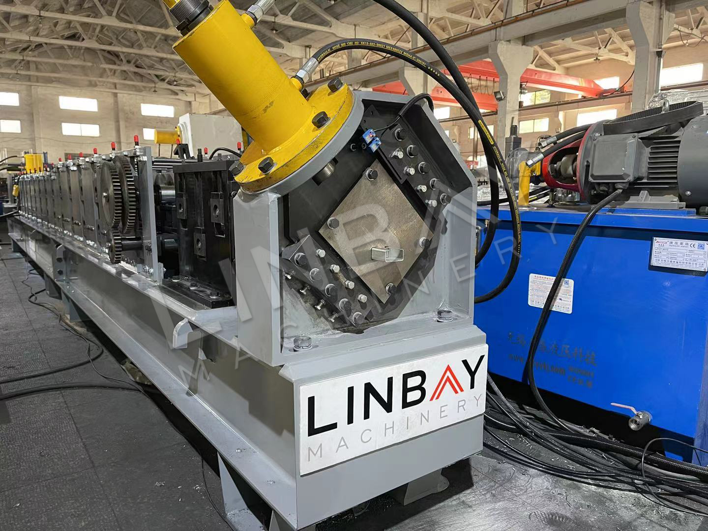 LINBAY-Export Bracing Roll Forming Machine to Chile