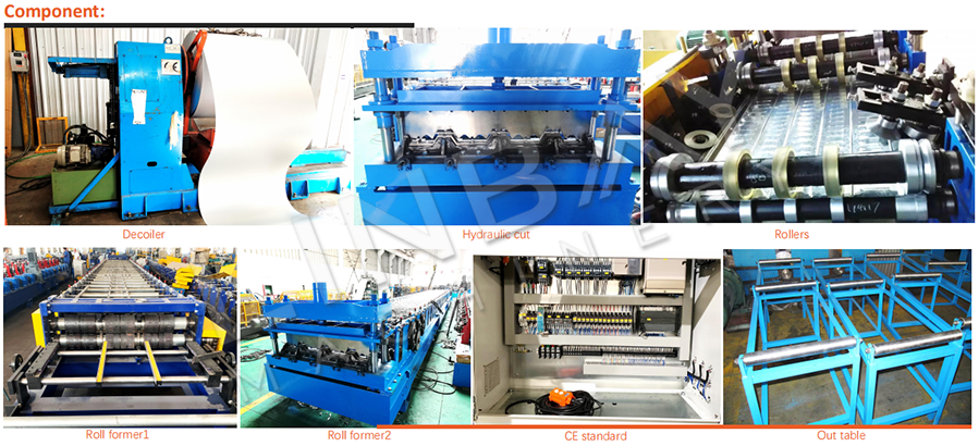 Metal Deck Roll Forming Machine Components