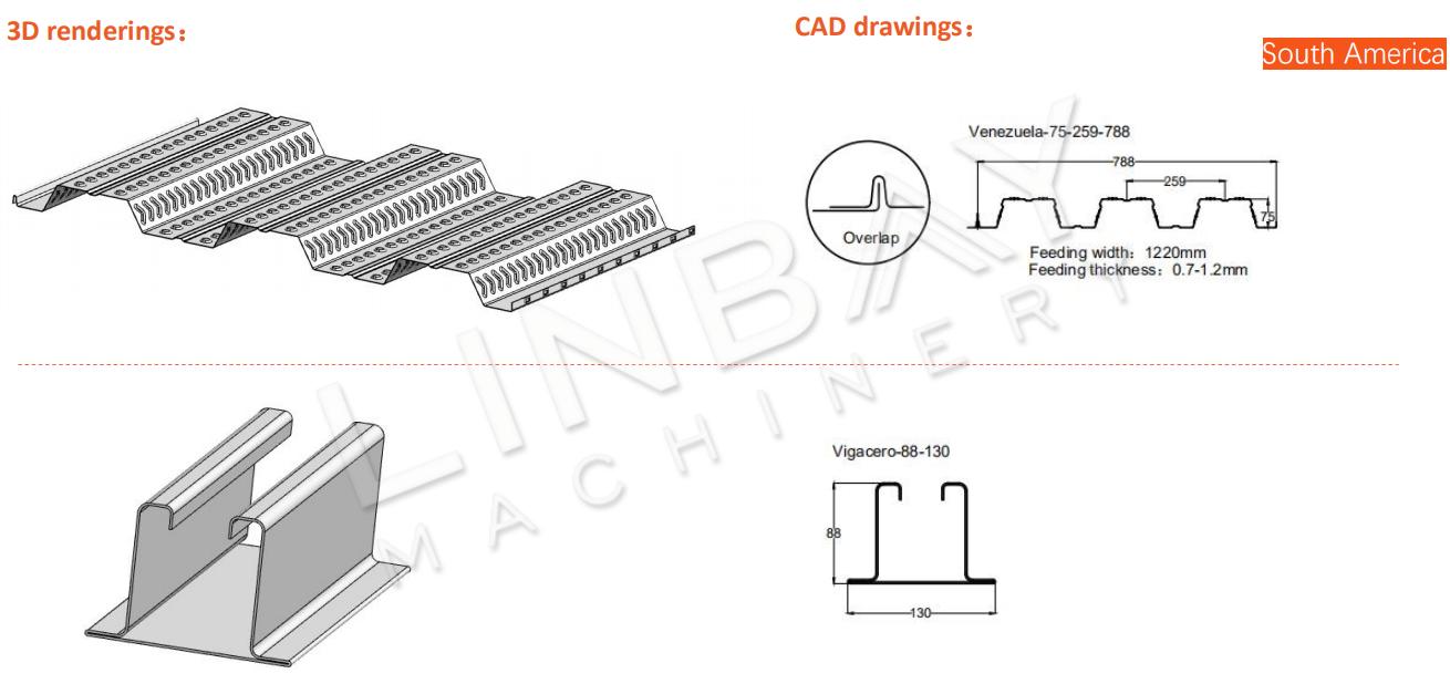 Metal Deck Roll Forming Machine Drawing3