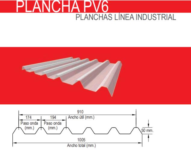 PLANCHA PV6