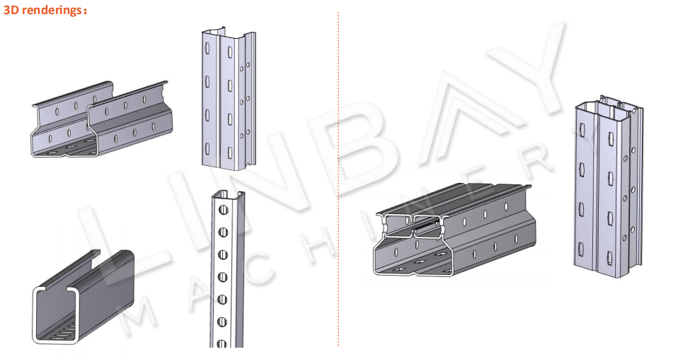 Mesin Roll Forming Rack Pallet Tegak 3D-2
