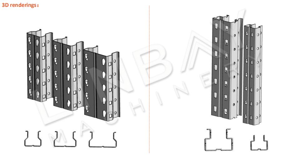 Mesin Roll Forming Rack Pallet Tegak 3D-3