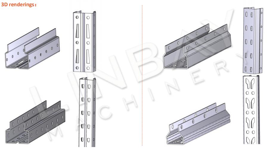 Mesin Roll Forming Rack Pallet Tegak 3D-4