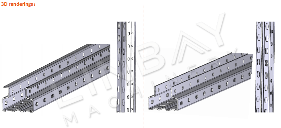 Pallet Upright Rack Roll Forming Machine 3D