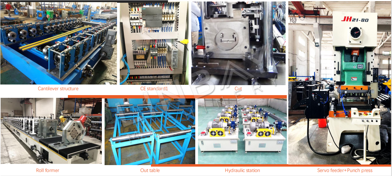 Pallet upright Roll forming machine Component