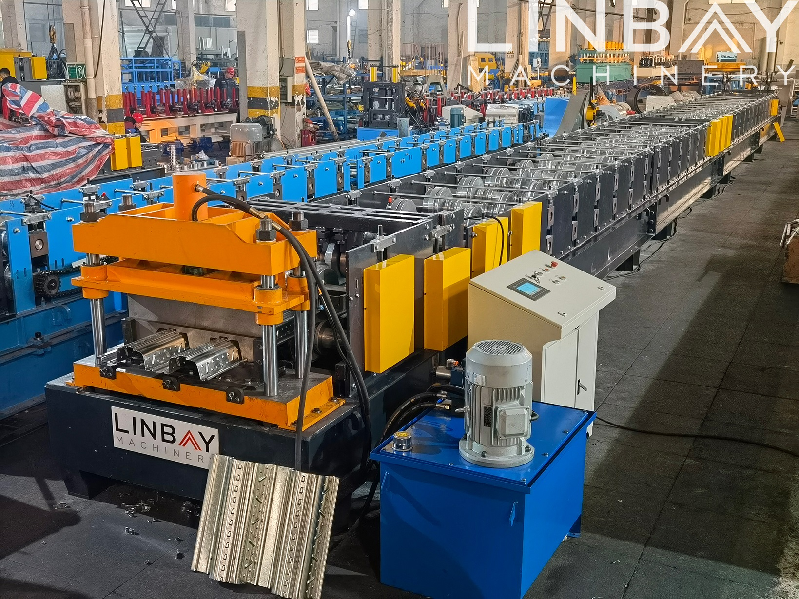 LINBAY-Export TR80 Metal Deck Roll Forming Machine to Iraq