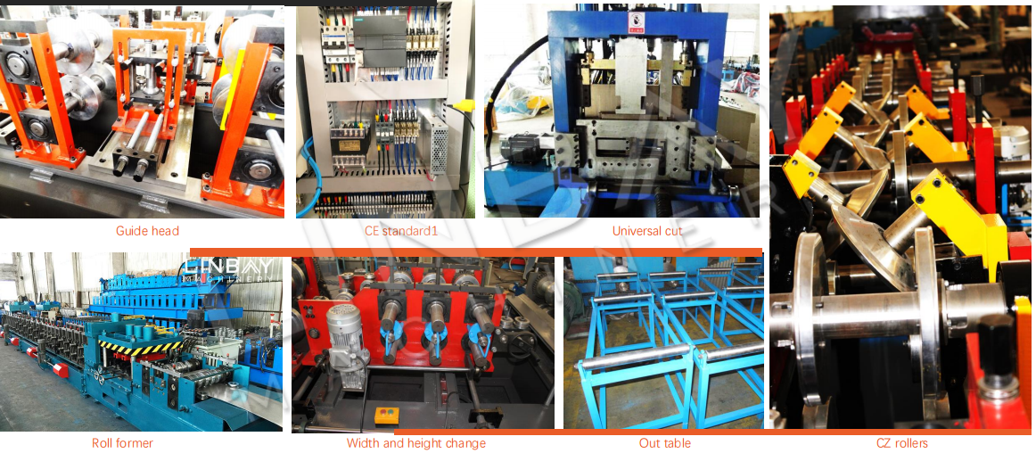 whole production line of purlin roll forming machine